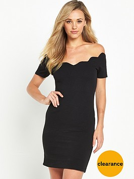 miss-selfridge-scallop-bodycon-dress