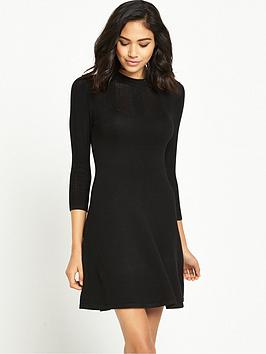 miss-selfridge-pointelle-yoke-rib-godet-dress