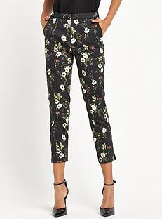 miss-selfridge-printed-skinny-trouser