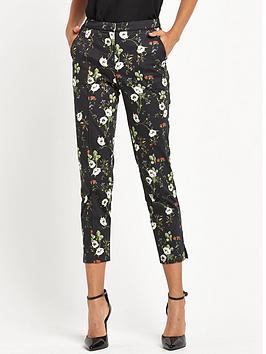 miss-selfridge-printed-skinny-trouser