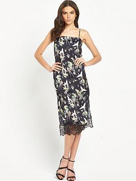 miss-selfridge-bird-print-cami-lace-midi-dress