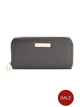 carvela-alis-zip-around-purse-grey