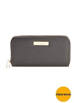 carvela-alis-zip-around-purse-grey