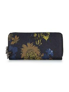 fiorelli-city-zip-around-purse-navy-floral