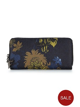 fiorelli-city-zip-around-purse-navy-floral