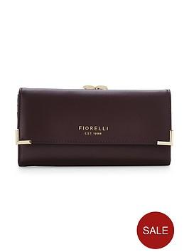 fiorelli-laverne-frame-purse-aubergine