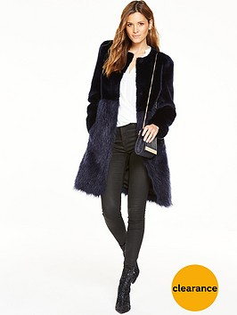 V by Very Luxury Faux Fur Coat | very.co.uk