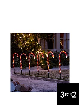candy-cane-garden-stake-light-outdoornbspchristmas-decorations-set-of-6