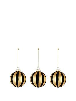 black-and-gold-glass-baublesnbspset-of-3
