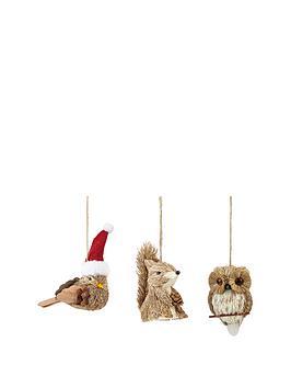 animal-hanging-christmas-decorations-set-of-3
