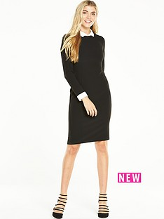 v-by-very-peter-pan-collared-bodycon-dress