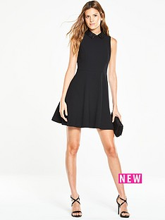 v-by-very-sequin-collared-skater-dress