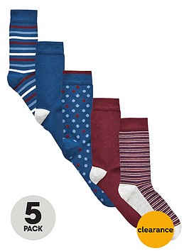 v-by-very-5-pack-spotty-stripe-socks
