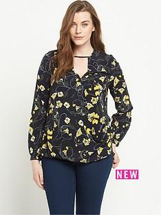 so-fabulous-print-wrap-front-blouse