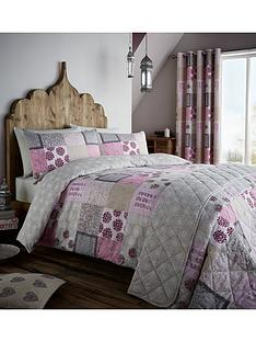 catherine-lansfield-ethnic-patchwork-duvet-set-pink