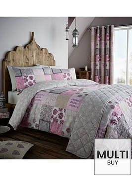 catherine-lansfield-ethnic-patchwork-duvet-set-pink