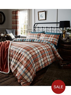 catherine-lansfield-heritage-country-kelso-check-duvet-set-spice