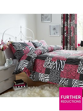 catherine-lansfield-animal-patchwork-duvet-set-multi
