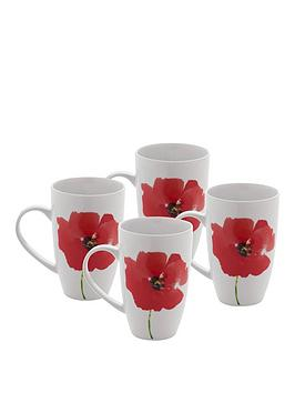 sabichi-poppy-collection-ndash-set-of-4-mugs