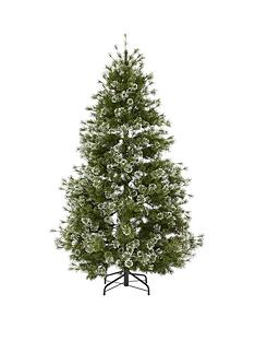 7ft-needle-flocked-pear-shaped-christmas-tree