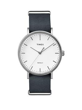 timex-timex-weekender-fairfield-white-dial-black-strap-unisex-watch
