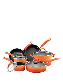 6-piece Rachael Ray Pan Set (Orange)