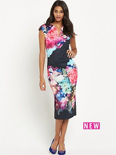 ted-baker-focus-bouquet-neoprene-dress