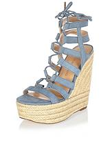 Rich Caged Tie Up High Wedge