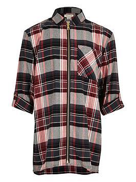 river-island-girls-check-longlinenbspzip-shirt