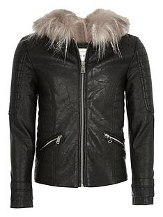 river-island-girlsnbspfaux-fur-hooded-biker-jacket
