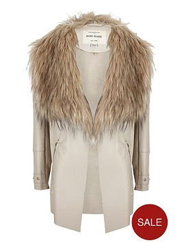 river-island-girls-waterfall-punbspfaux-fur-collar-jacket