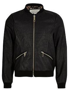 river-island-girls-black-pu-bomber-jacket