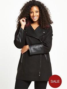 v-by-very-curve-contrast-fur-asymmetric-zip-coat