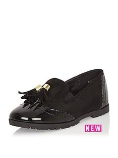 river-island-mini-girls-black-tassel-loafers
