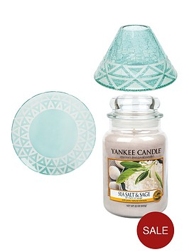 yankee-candle-large-jar-candle-with-cote-drsquoazur-sandblast-shade-and-tray-ndash-sea-salt-and-sage