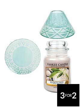 yankee-candle-large-jar-candle-with-cote-drsquoazur-sandblast-shade-and-tray-ndash-sea-salt-and-sage