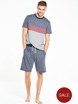 v-by-very-short-sleeve-colour-block-pj-set
