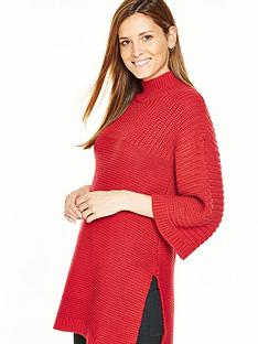v-by-very-fluted-sleeve-poncho-tunic