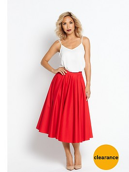 myleene-klass-full-circle-skirt-red
