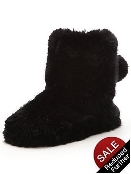 ted-baker-hamond-fluffy-slipper-boot-black
