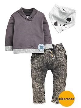 ladybird-baby-boys-3pc-sweat-bib-and-jean-set