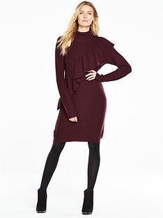 v-by-very-oversized-frill-chunky-knit-dress