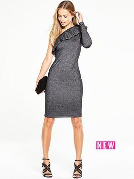 v-by-very-frill-one-shoulder-metallic-bodycon-dress