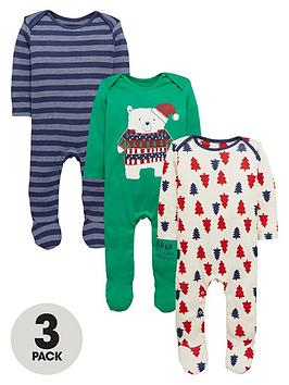 ladybird-baby-boys-3pk-xmas-sleepsuits