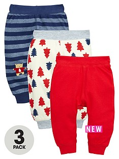 ladybird-baby-boys-3pk-xmas-interlock-jogger