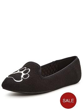 ted-baker-ayaya-french-bulldog-slipper-black