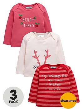 ladybird-baby-girls-christmas-t-shirts-3-pack