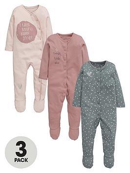ladybird-baby-girls-3pk-fashion-sleepsuits