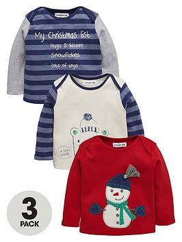ladybird-baby-boys-christmas-t-shirts-3-pack