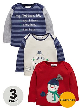 ladybird-baby-boys-christmas-t-shirts-3-pack